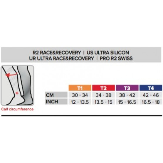Гетры Compressport R2 (Race & Recovery) голубые