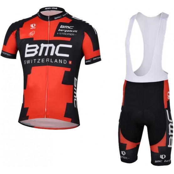 Комплект джерси+велошорты BMC Team черно-красный мужской