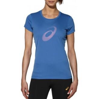 Футболка ASICS Graphic SS Top синяя женская