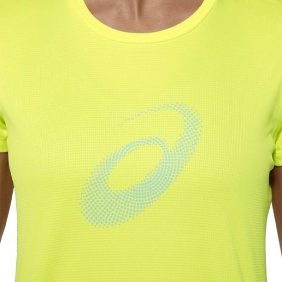 Футболка ASICS Graphic SS Top желтая женская