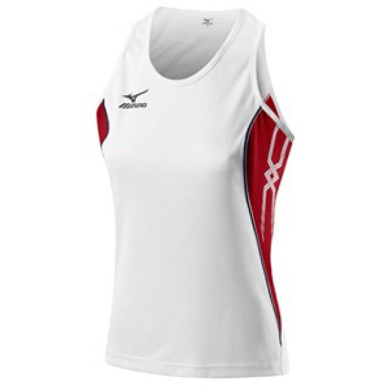 Футболка Mizuno Women's Singlet 211 бело-красная женская