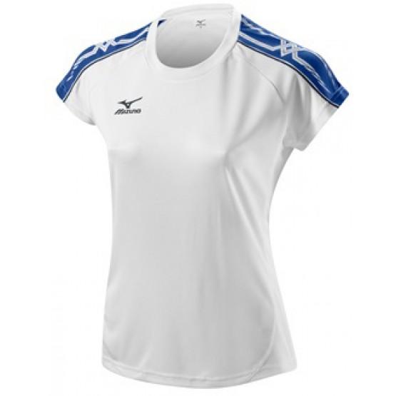 Футболка Mizuno Women's Tee 211 бело-синяя женская