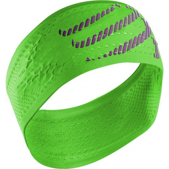 Повязка Compressport Headband On/Off зеленая