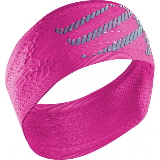 Повязка Compressport Headband On/Off розовая