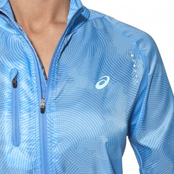 Ветровка ASICS Lightweight Jacket голубая женская
