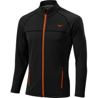 Толстовка Mizuno Breath Thermo Fleece Jacket черная мужская
