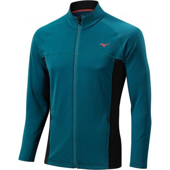 Толстовка Mizuno Breath Thermo Fleece Jacket синяя мужская