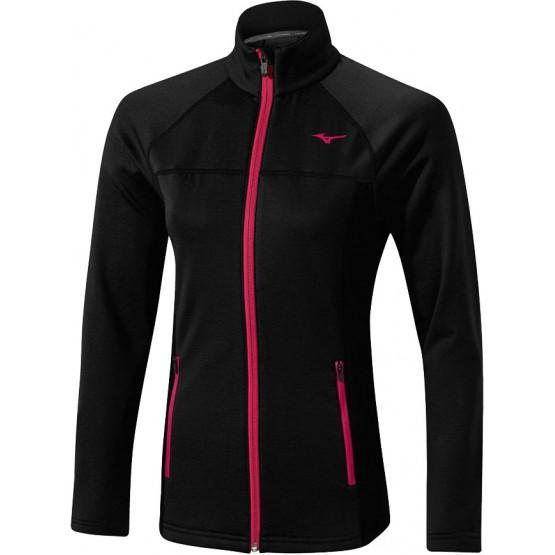 Толстовка Mizuno Breath Thermo Fleece Jacket черная женская
