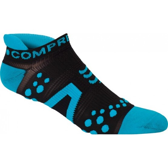 Носки Compressport V2 Run Lo Black голубые