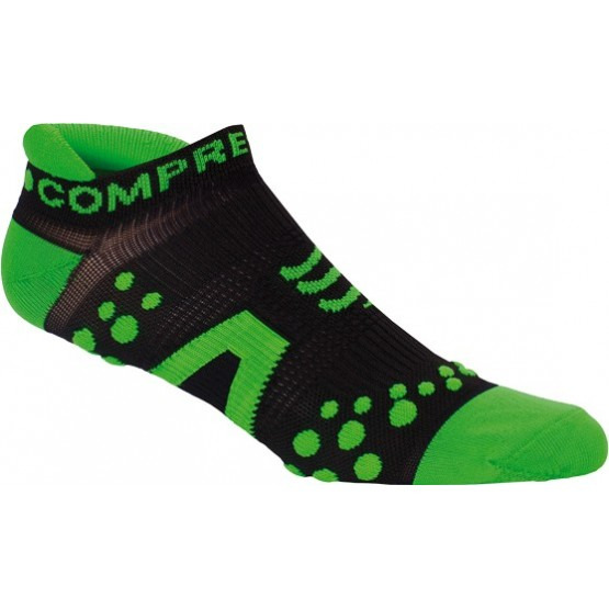 Носки Compressport V2 Run Lo Black зеленые