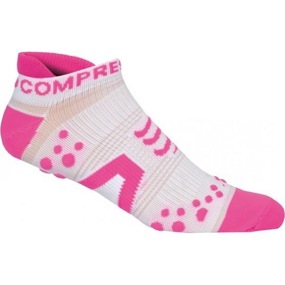 Носки Compressport V2 Run Lo White бело-розовые