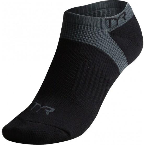 Носки TYR Tyr All Elements No Show Training Socks черные