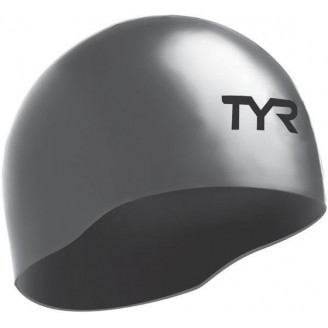 Шапочка для плавания TYR Tracer Edge Racing Cap серебристая