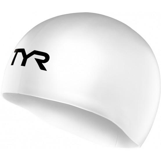 Шапочка для плавания TYR Tracer Edge Racing Cap белая