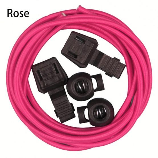 Шнурки Running Triathlon ShoeLace для бега и триатлона темно-розовые