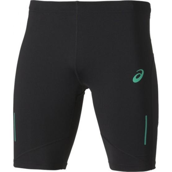 Шорты ASICS Adrenaline Sprinter черные/зеленые мужские
