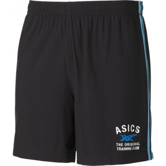 Шорты ASICS Graphic Woven Shorts черные/бирюзовые мужские