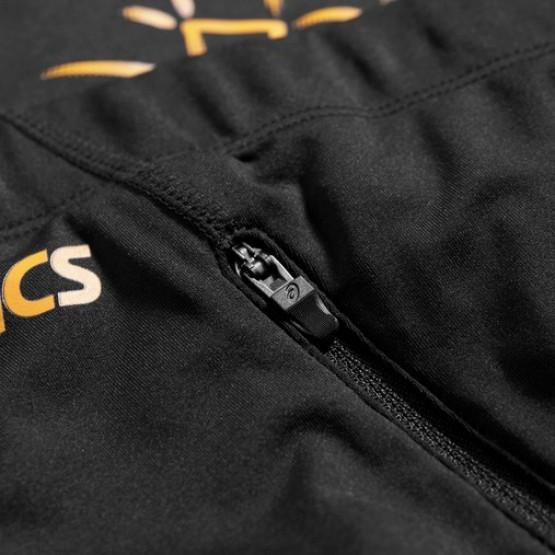 Штаны ASICS Asics Stripe Knee Tight черные/оранжевые мужские