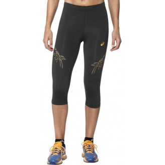 Штаны ASICS Asics Stripe Knee Tight черные/оранжевые женские
