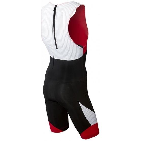 Стартовый костюм слитный / без рукавов TYR Carbon Zipper Back Short John w/Pad мужской