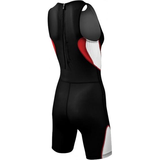 Стартовый костюм слитный / без рукавов TYR Carbon Zipper Back Short John женский