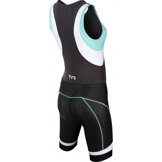 Стартовый костюм слитный / без рукавов TYR Women'S Competitor Tri Suit Front Zip женский черно-голубой