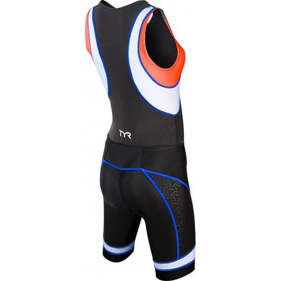 Стартовый костюм слитный / без рукавов TYR Women'S Competitor Tri Suit Front Zip женский черно-красный