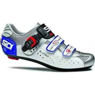 Велотуфли SIDI Genius 5-PRO бело-серебристые мужские
