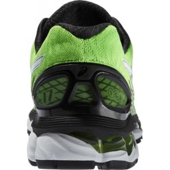 Кроссовки ASICS Gel-Nimbus 17 зелено-черные мужские