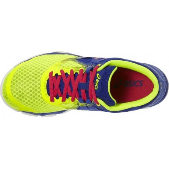 Кроссовки ASICS 33-Dfa сине-желтые женские