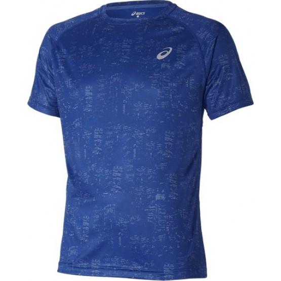 Футболка ASICS Short-Sleeve Graphic Top синяя мужская