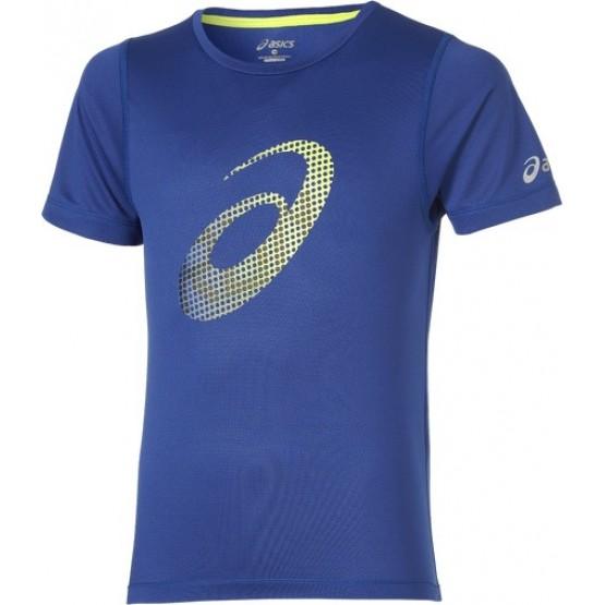 Футболка ASICS Short Sleeve T-Shirt синяя мужская