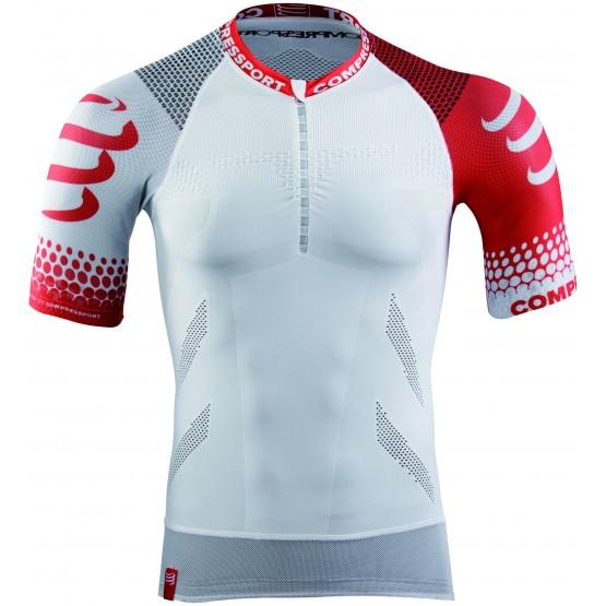 Футболка Compressport Trail Running Shirt Sleeve V2 белая мужская