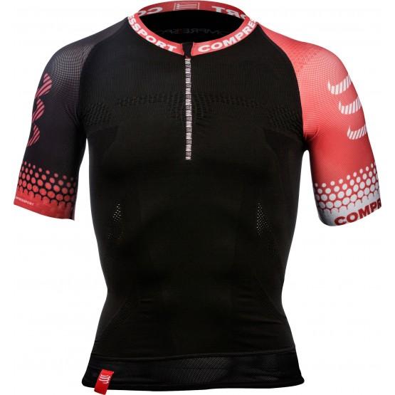 Футболка Compressport Trail Running Shirt Sleeve V2 черная мужская