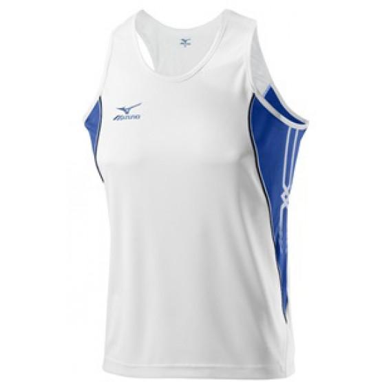 Футболка Mizuno Singlet 201 бело-синяя мужская