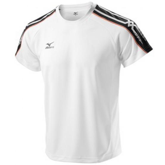Футболка Mizuno Tee 201 бело-черная мужская