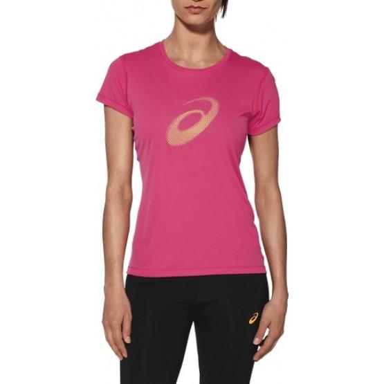 Футболка ASICS Graphic SS Top розовая женская