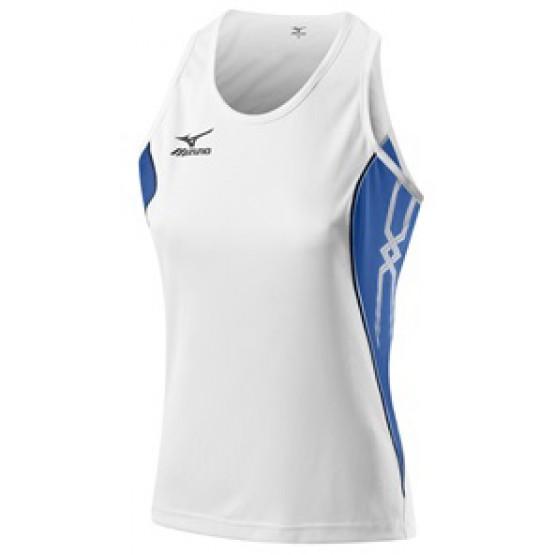 Футболка Mizuno Women's Singlet 211 бело-синяя женская
