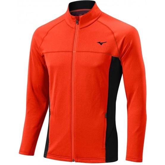 Толстовка Mizuno Breath Thermo Fleece Jacket оранжевая мужская