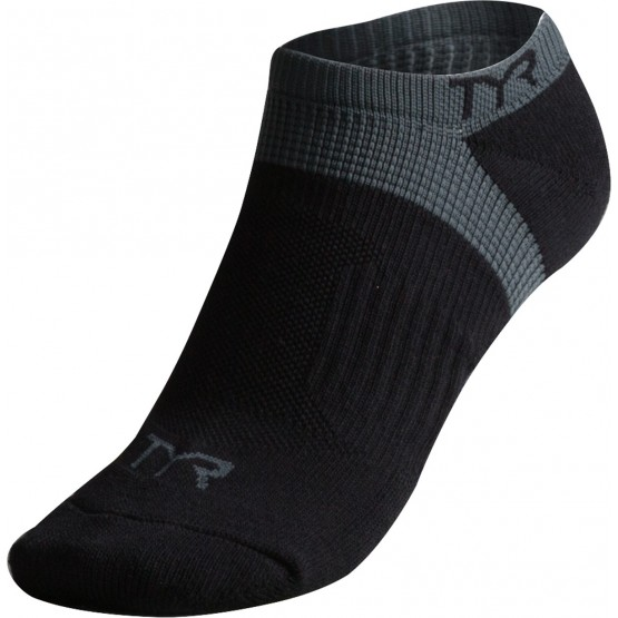 Носки TYR Tyr All Elements No Show Training Socks черные