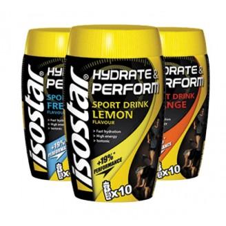 Порошок для приготовления изотонического напитка при циклических нагрузках продолжительностью до 2 часов Isostar Hydrate&Perform