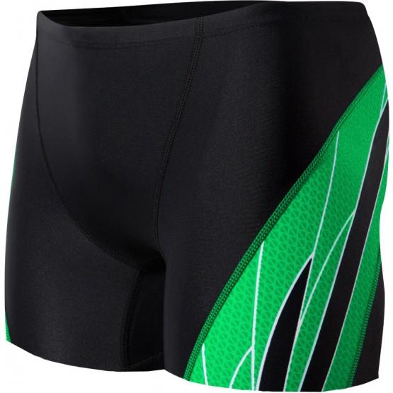 Плавки TYR Phoenix Splice Square Leg черно-зеленые