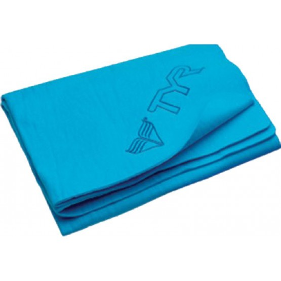 Полотенце TYR Large Dry Off Sport Towel голубое