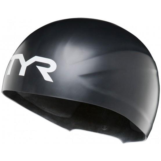 Шапочка для плавания TYR Wall-Breaker Silicone Race Cap черная