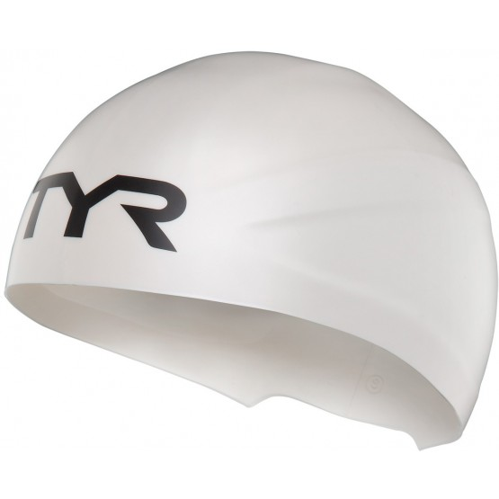 Шапочка для плавания TYR Wall-Breaker Silicone Race Cap белая