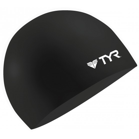 Шапочка для плавания TYR Wrinkle Free Silicone Cap черная