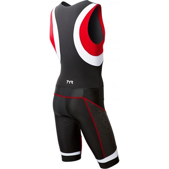 Стартовый костюм слитный / без рукавов TYR Men'S Competitor Tri Suit Front Zip мужской черно-красный