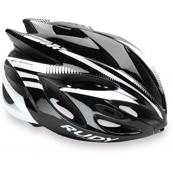 Велошлем RUDY PROJECT RUSH BLACK/WHITE SHINY