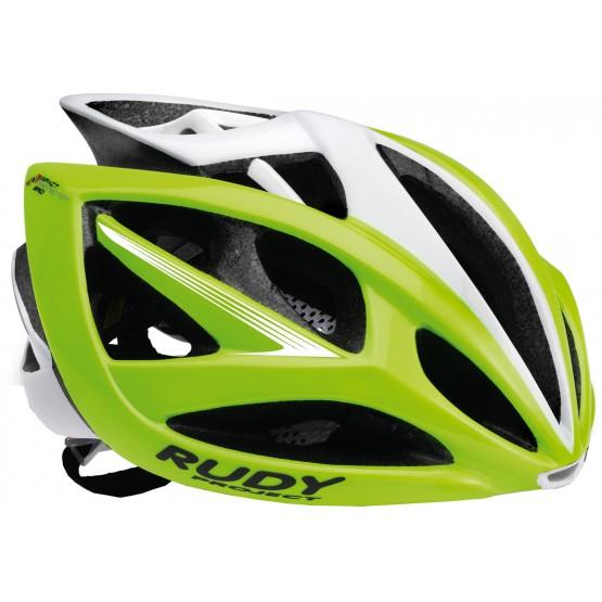 Велошлем RUDY PROJECT Airstorm Shiny лимонно-белый